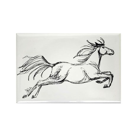 Equestrian Art Rectangle Magnet