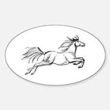 Equestrian Art Oval Decal