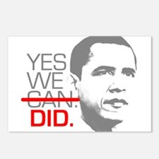"""Obama """"YES WE DID."""" Postcards (Package of 8)"""