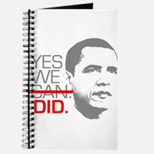 "Obama ""YES WE DID."" Journal"