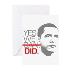 "Obama ""YES WE DID."" Greeting Cards (Pk of 20)"