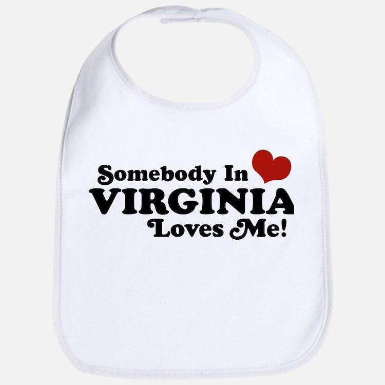 Somebody in Virginia Loves Me Bib