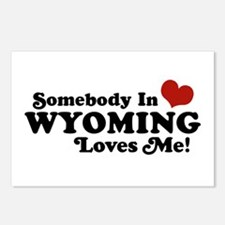 Somebody in Wyoming Loves Me Postcards (Package of