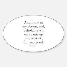 GENESIS 41:22 Oval Decal