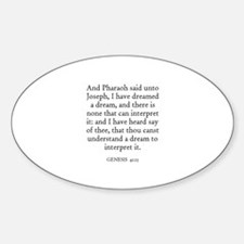 GENESIS 41:15 Oval Decal