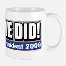 Yes We Did Obama Small Small Mug