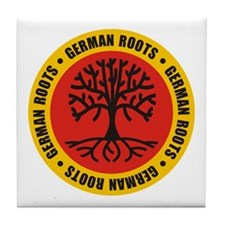 German Roots Tile Coaster