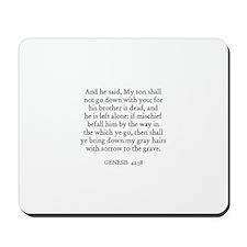 GENESIS  42:38 Mousepad