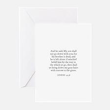 GENESIS  42:38 Greeting Cards (Pk of 10)
