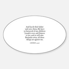 GENESIS 42:36 Oval Decal