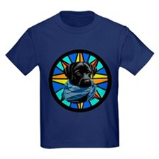 Yuppy Puppy on Stained Glass T