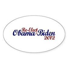 Re-Elect Obama 2012 Oval Decal