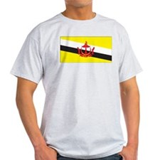 Brunei Flag Ash Grey T-Shirt