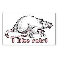 I like rats Rectangle Decal