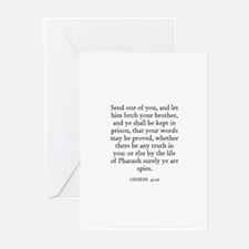 GENESIS  42:16 Greeting Cards (Pk of 10)