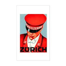 Zurich Switzerland Rectangle Decal