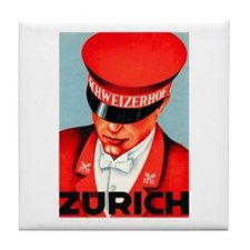 Zurich Switzerland Tile Coaster