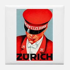 Zurich Switzerland Tile Coaster