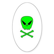 Space Pirate Oval Decal