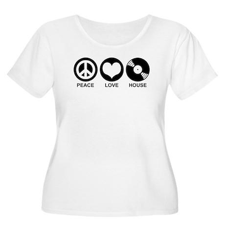 Peace Love House Women's Plus Size Scoop Neck T-Sh