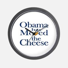 Obama Has Moved the Cheese Wall Clock