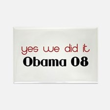 yes we did it Obama Rectangle Magnet