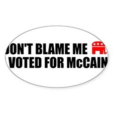 DON'T BLAME ME I VOTED FOR MC Oval Decal