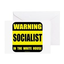 Socialist obama in white house Greeting Card