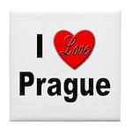 I Love Prague Tile Coaster
