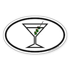 Three Olive Martini Euro Oval Decal