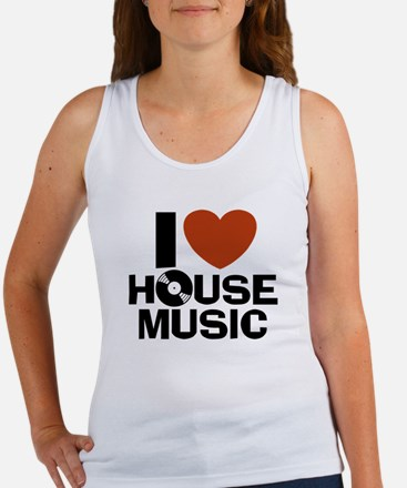 I Love House Music Women's Tank Top