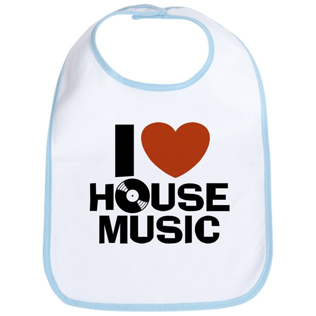 I love house music bib by snapetees for 90s house music