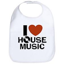 I Love House Music Bib