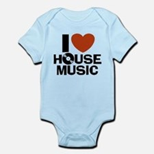 I Love House Music Infant Bodysuit