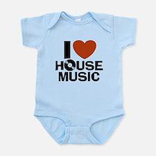 I Love House Music Onesie