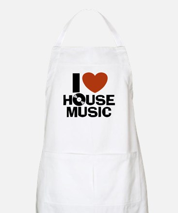 I Love House Music BBQ Apron
