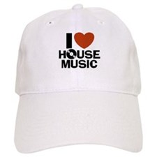 I Love House Music Baseball Baseball Cap