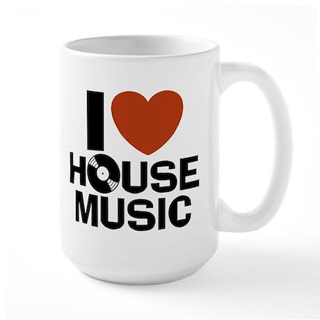 I Love House Music Large Mug