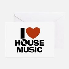 I Love House Music Greeting Cards (Pk of 10)