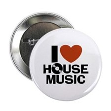 """I Love House Music 2.25"""" Button"""