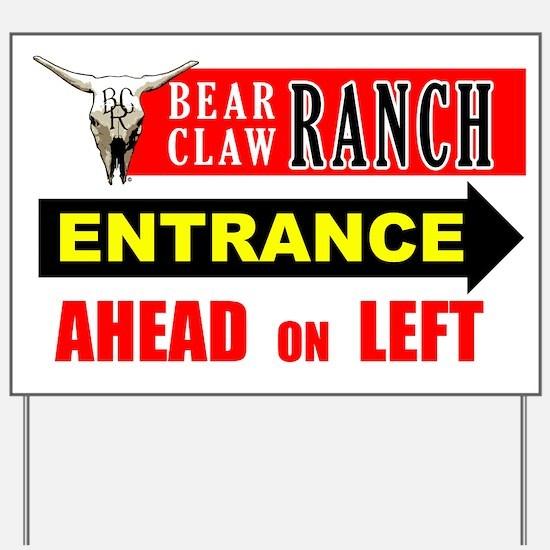 Bear Claw Ranch Entrance Sign