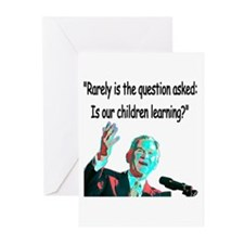 ...Is our children learning? Greeting Cards (Packa