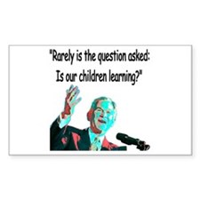 ...Is our children learning? Rectangle Decal