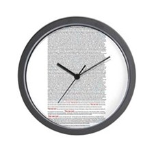 Cute Martin luther king day Wall Clock