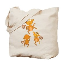 Cute Dancing Monkies Tote Bag