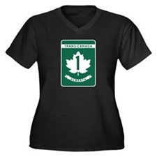 Trans-Canada Highway, Alberta Women's Plus Size V-