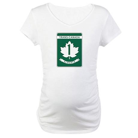 Trans-Canada Highway, Alberta Maternity T-Shirt