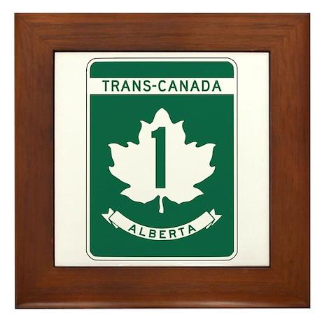 Trans-Canada Highway, Alberta Framed Tile