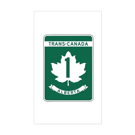 Trans-Canada Highway, Alberta Rectangle Sticker