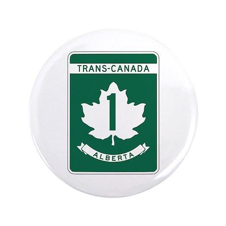 "Trans-Canada Highway, Alberta 3.5"" Button"